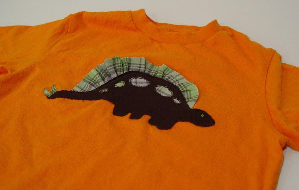 Dinosaur Ruffle Shirt
