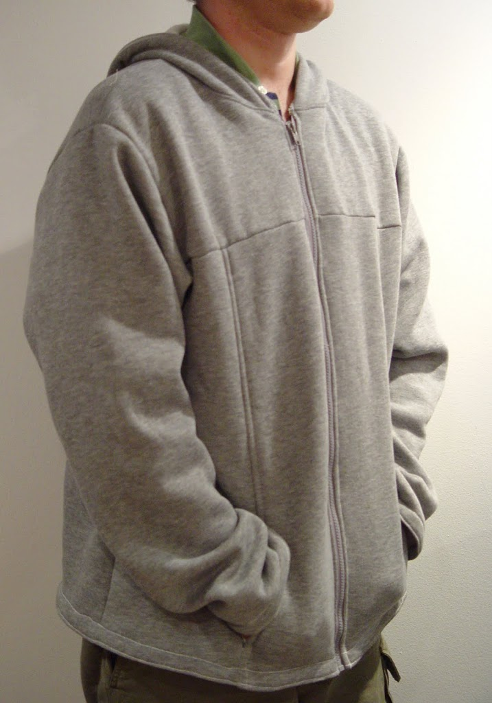 Hooded Zippered Sweatshirt