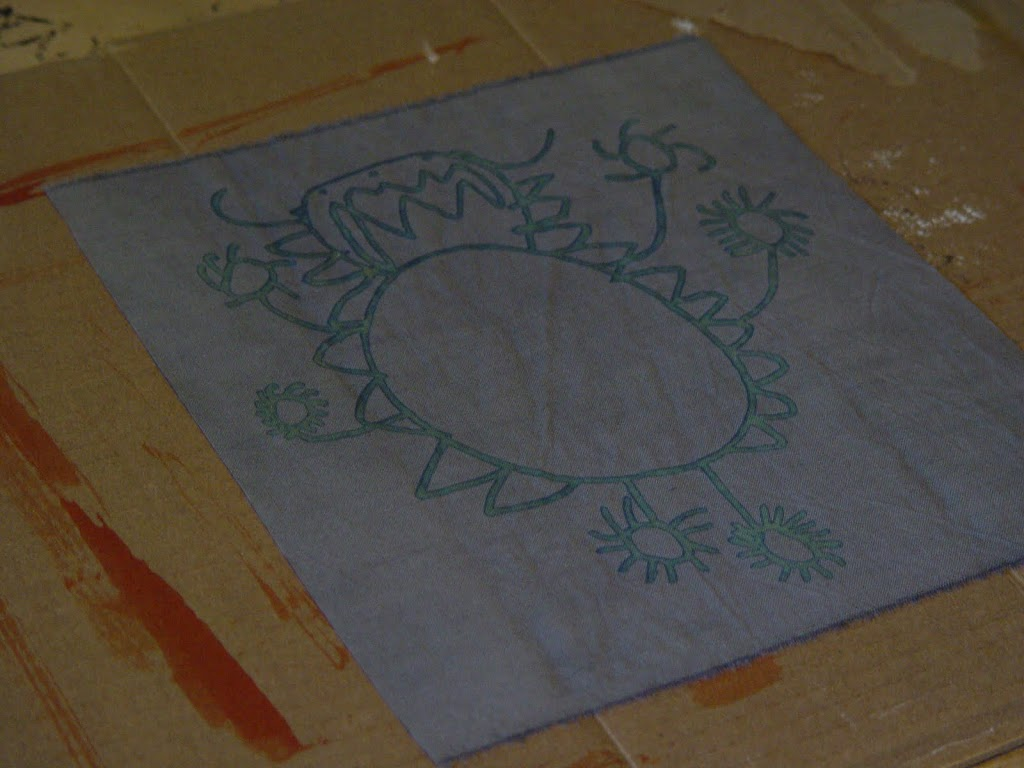 drawing to fabric