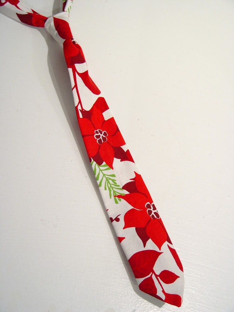 Poinsettia dress and Tie