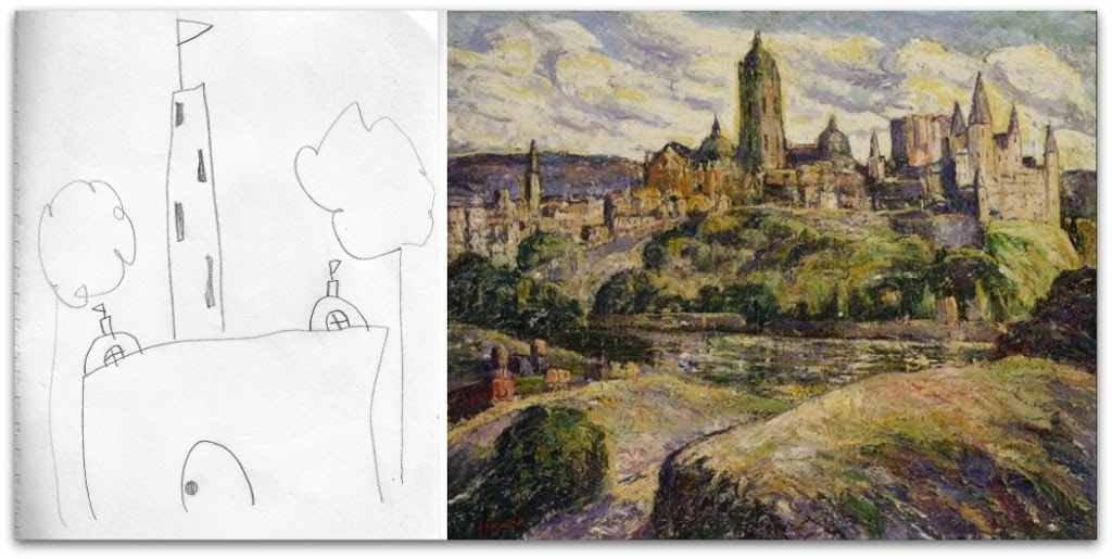 Segovia-collageDrawing with van Gogh