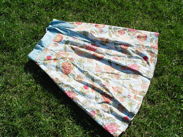 Yard-Sale Wrap Skirt