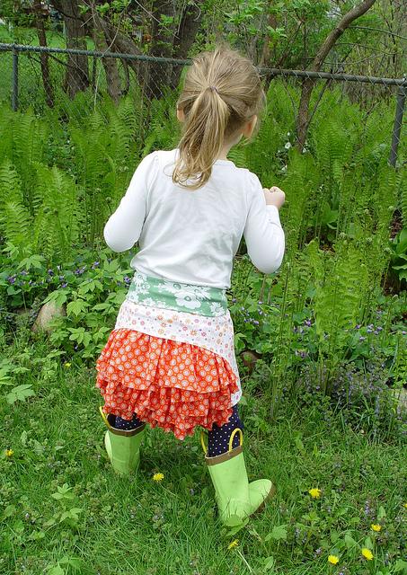 Ruffle Bustle Skirt