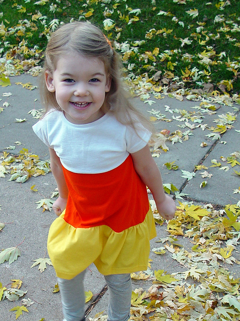 Candy Corn dress and Owl in the moon Tee