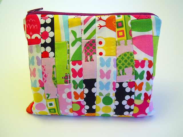 Scrappy Wonky Pouch