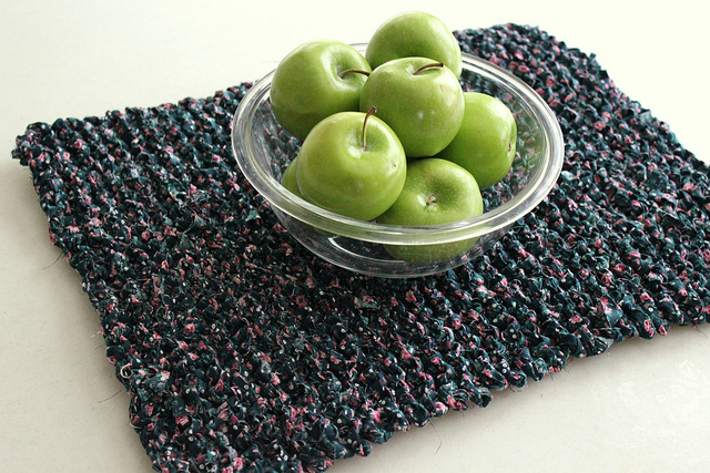 knitting with fabric