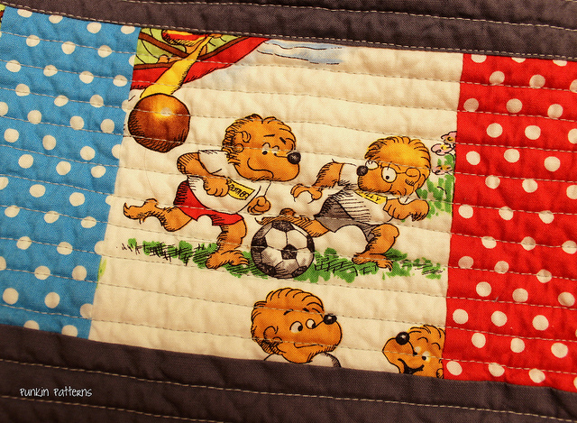 Bears baby quilt