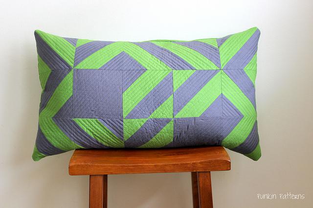 modern geometric pillow