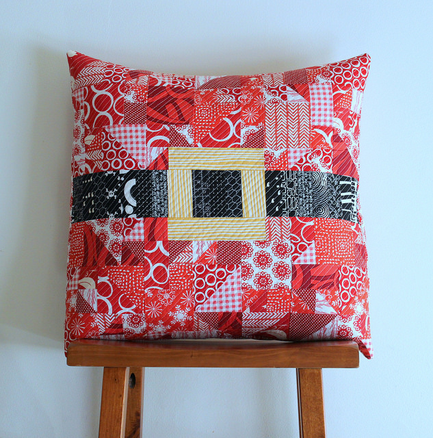 modern merry christmas pillow