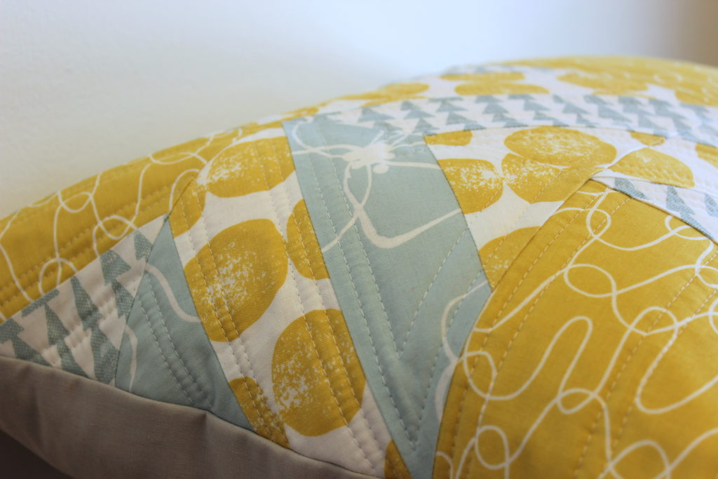 Geometric modern pillow