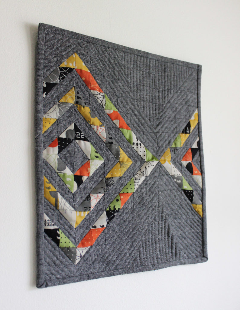 Relfektion mini quilt