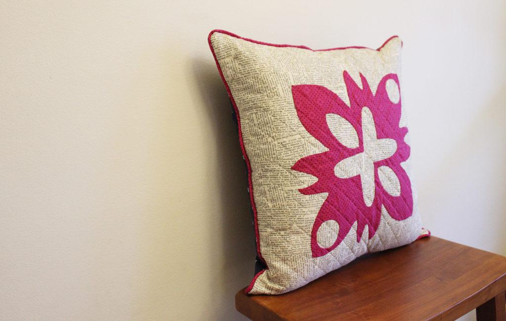 hand applique pillow