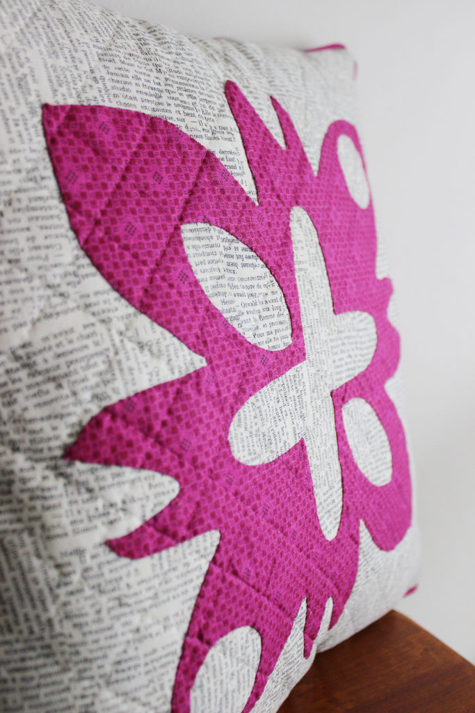 hand applique pillow